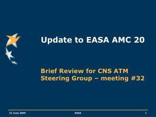 Update to EASA AMC 20
