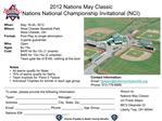 2012 Nations May Classic Nations National Championship Invitational NCI