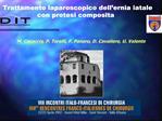 Trattamento laparoscopico dell ernia iatale  con protesi composita