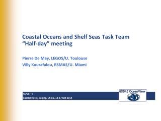 Coastal  Oceans and Shelf Seas Task Team  � Half-day� meeting