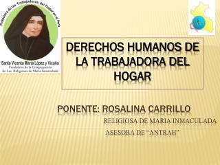 DERECHOS HUMANOS DE LA TRABAJADORA DEL HOGAR