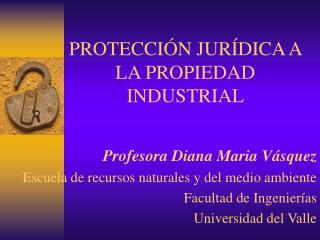 PROTECCIÓN JURÍDICA A LA PROPIEDAD INDUSTRIAL