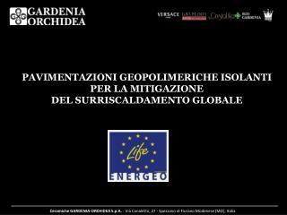 PAVIMENTAZIONI GEOPOLIMERICHE ISOLANTI PER LA MITIGAZIONE  DEL SURRISCALDAMENTO GLOBALE