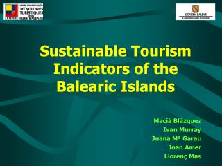 Sustainable Tourism Indicators of the Balearic Islands