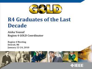 R4 Graduates of the Last Decade