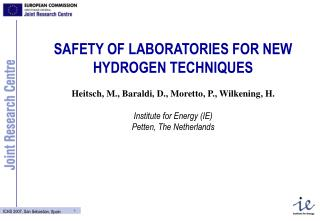SAFETY OF LABORATORIES FOR NEW HYDROGEN TECHNIQUES