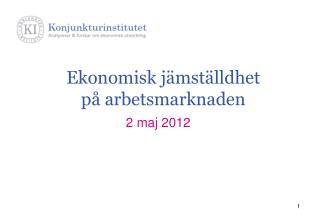Ekonomisk jämställdhet på arbetsmarknaden