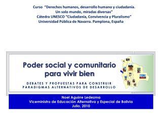 Poder social y comunitario  para vivir bien