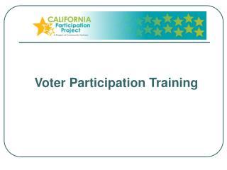 Voter Participation Training