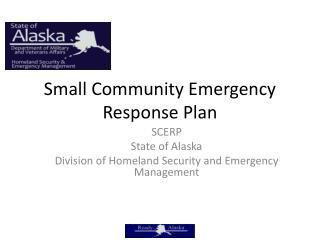 Small Community Emergency Response Plan
