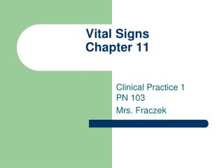Vital Signs Chapter 11