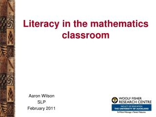 Literacy in the mathematics classroom