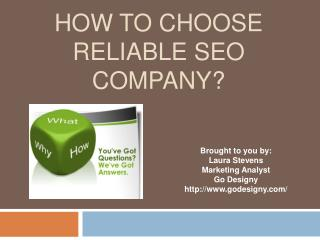 Tips on selecting a reliable SEO Company