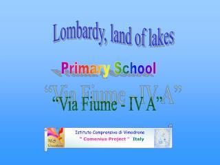 """Istituto Comprensivo di Vimodrone """"  Comenius Project """" Italy"""