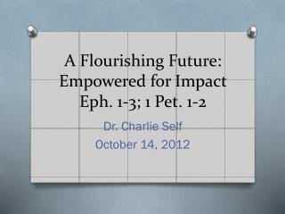 A Flourishing Future: Empowered for Impact Eph. 1-3; 1 Pet. 1-2