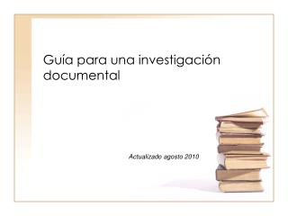 Gu�a para una investigaci�n documental