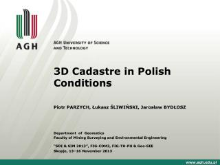 3D Cadastre in Polish Conditions