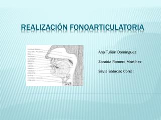 Realización  fonoarticulatoria