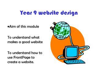 Year 9 website design