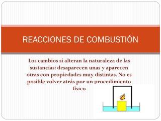 REACCIONES DE COMBUSTIÓN
