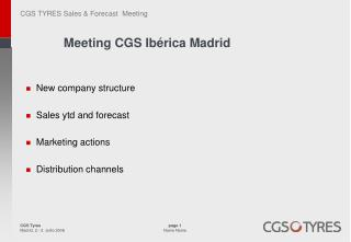 Meeting CGS Ibérica Madrid