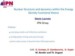 Nuclear Structure and dynamics within the Energy Density Functional theory