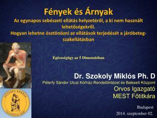 Dr. Szokoly Miklós Ph. D Péterfy Sándor Utcai Kórház-Rendelőintézet és Baleseti Központ