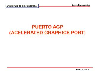 PUERTO AGP (ACELERATED GRAPHICS PORT)