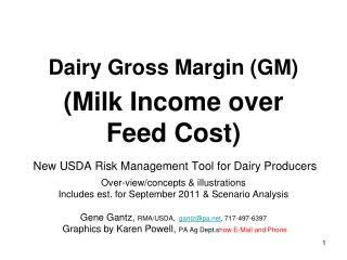 What is Dairy Gross Margins Insurance do for Producers?