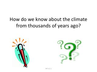 How do we know about the climate from thousands of years ago?