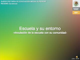 SUBSECRETARÍA DE EDUCACIÓN MEDIA SUPERIOR RESEMS-Zacatecas