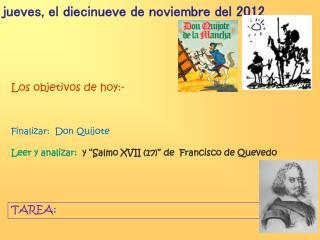 jueves, el diecinueve de noviembre del 2012