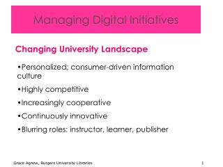 Managing Digital Initiatives