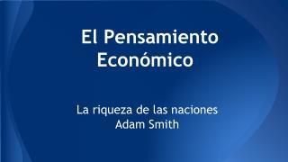 El Pensamiento Económico