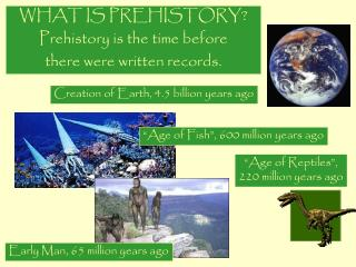 WHAT IS PREHISTORY? Prehistory is the time before  there were written records.