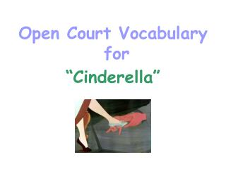 Open Court Vocabulary  for