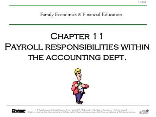 Chapter 11 Payroll responsibilities within the accounting dept.