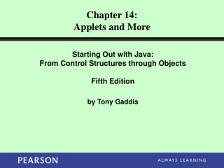 Chapter 14: Applets and More