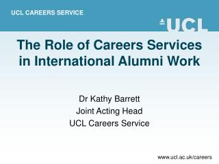 The Role of Careers Services in International Alumni Work
