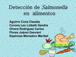 Detección de  Salmonella  en  alimentos