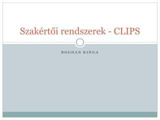 Szakértői rendszerek - CLIPS