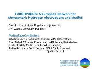 EUROHYDROS: A European Network for Atmospheric Hydrogen observations and studies