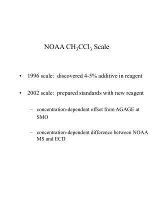 NOAA CH 3 CCl 3  Scale