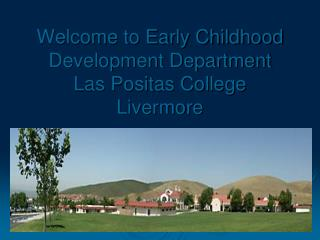 Welcome to Early Childhood Development Department  Las Positas College Livermore