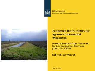Economic instruments for agro-environmental measures