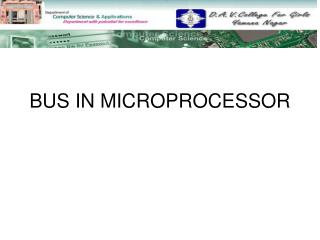 BUS IN MICROPROCESSOR