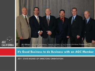 It's Good Business to do Business with an AGC Member
