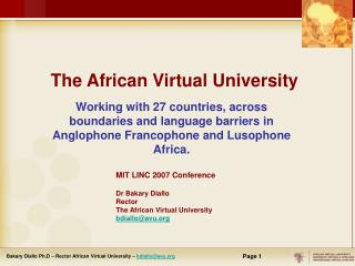 The African Virtual University