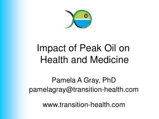 Impact of Peak Oil on  Health and Medicine