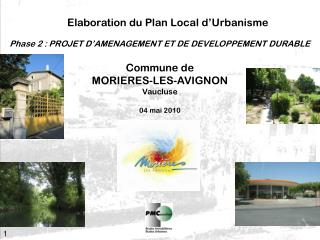 Elaboration du Plan Local d�Urbanisme